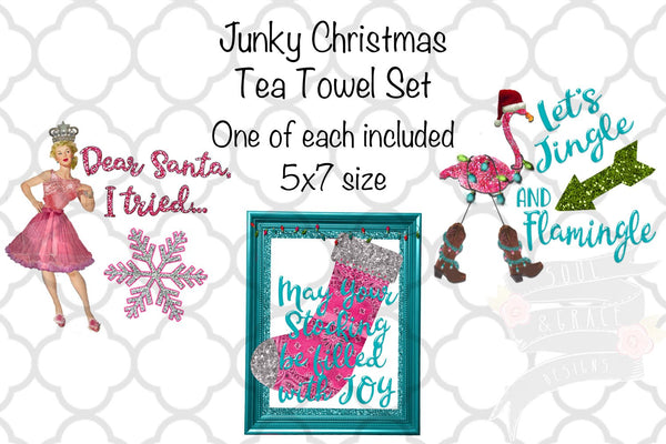 Junky Christmas Kitchen Tea Towel Set