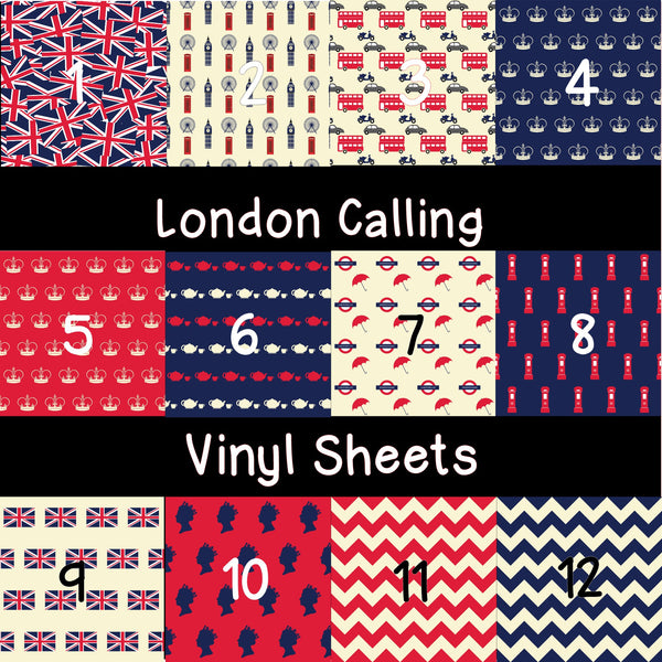 London Calling Patterned Vinyl Sheets