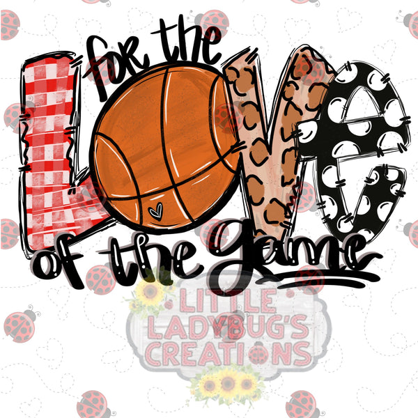 For The Love Of The Game Basketball HTV Transfer