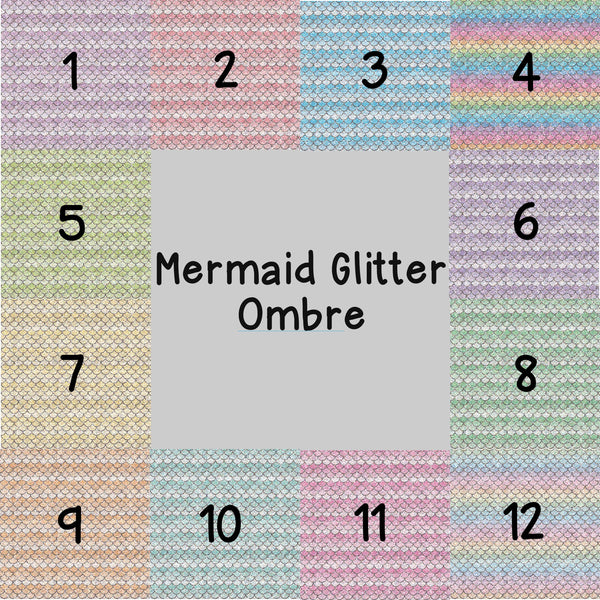 Mermaid Glitter Ombre Patterned Vinyl
