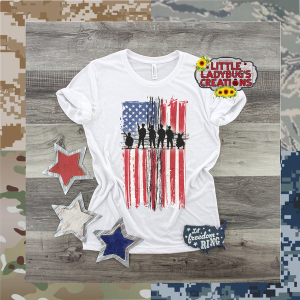Military Cross Flag Tshirt
