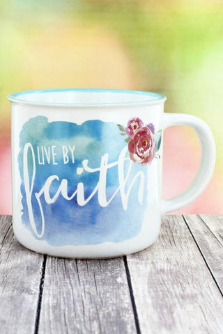 LIVE BY FAITH CAMPFIRE MUG