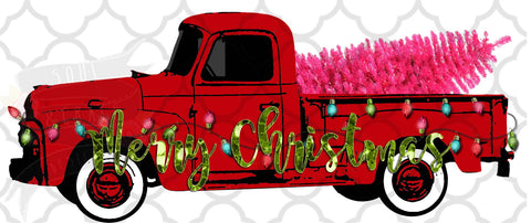 Red Truck Merry Christmas
