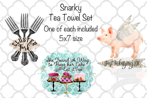 Snarky Tea Towel Set