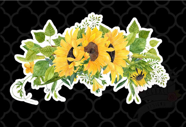 Sunflower Swag Decal