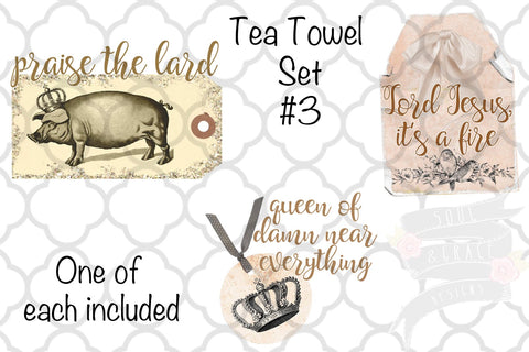 Shabby Chic Tea Towel Set