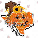 Texas Scarecrow Fall HTV transfer *Other states available*