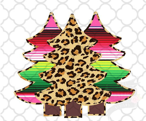 Serape Cheetah Tree Trio