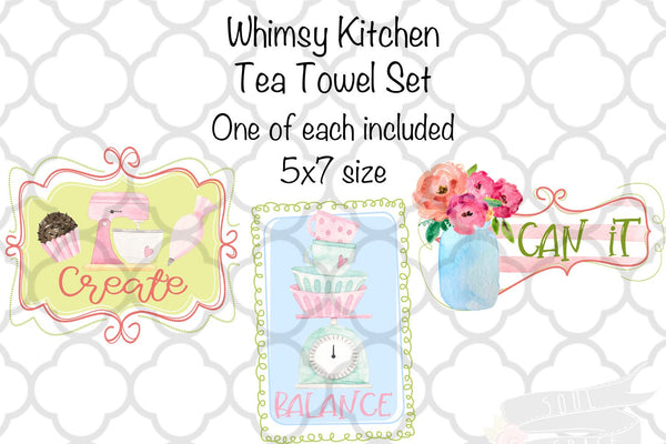 Whimsy Kitchen Tea Towel Set