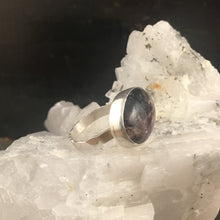 Oval Charoite and Sterling Silver Ring/ One of a Kind