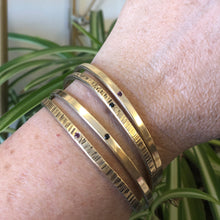 Brass Textured Flush Set Cuff