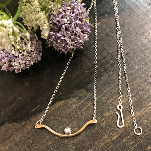 Brass and Silver Necklace