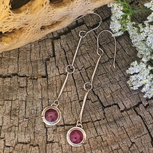 Balance Earrings - Dark Pink Sapphire