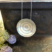 Pierced Silver Shield Necklace Style 2