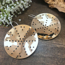 Pierced Brass Shield Earring Style 1