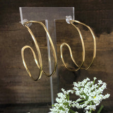 Double Brass Hoop Earrings