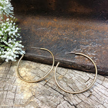 Medium Brass Hoop Earrings