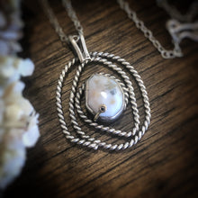 Silver Ocean Jasper Necklace with Gold Prong