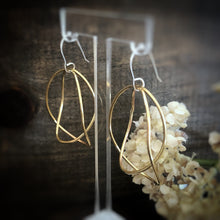 Double Brass Circle Earrings