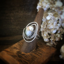 Silver Ocean Jasper Ring with Gold Prong