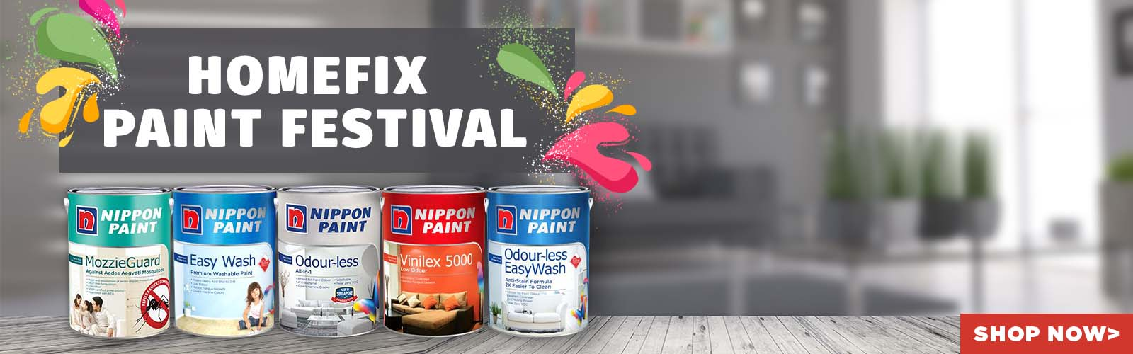 Start shopping now for Nippon Paints, discounts, free gifts, fast and free delivery