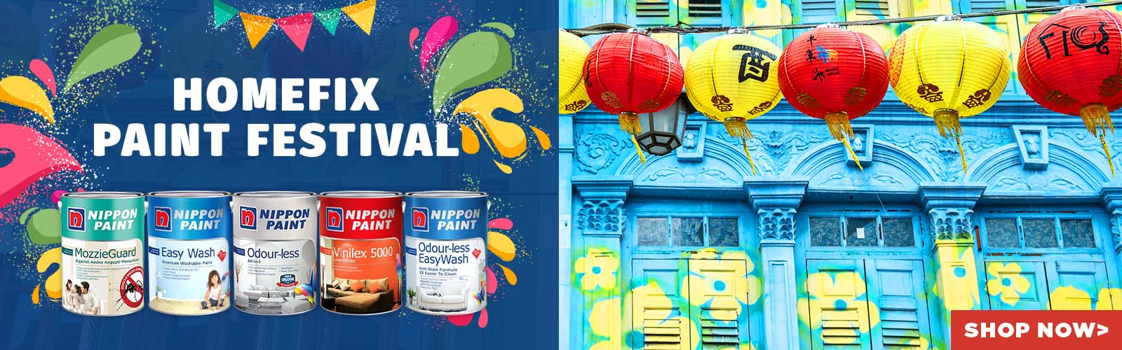Nippon Paint Festival - discounts, gifts, free delivery on all nippon paints