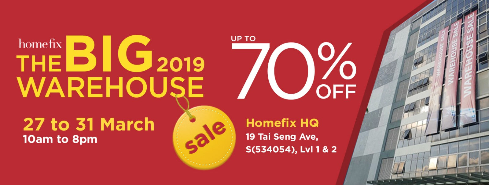 Homefix Warehouse Sale - lowest prices on home improvement products