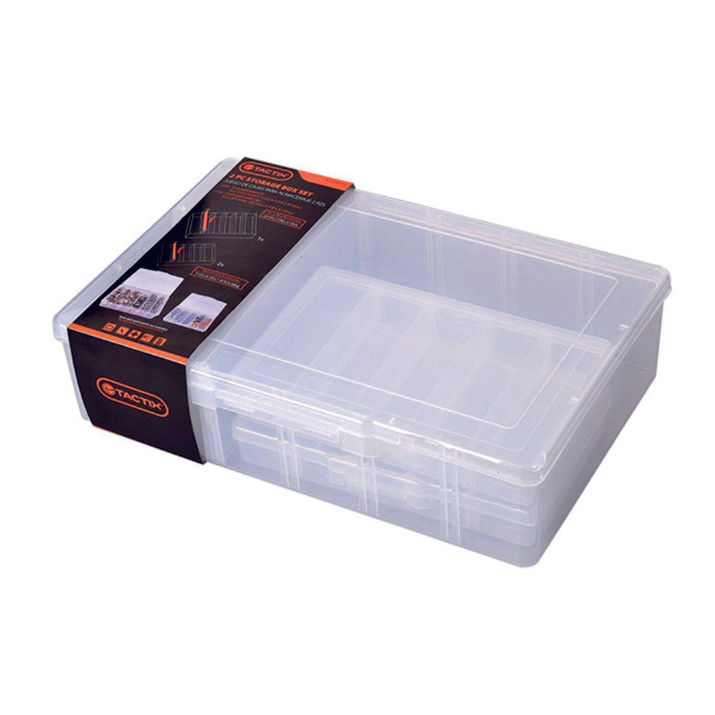 Tactix Compartment Storage Box (3Pcs)
