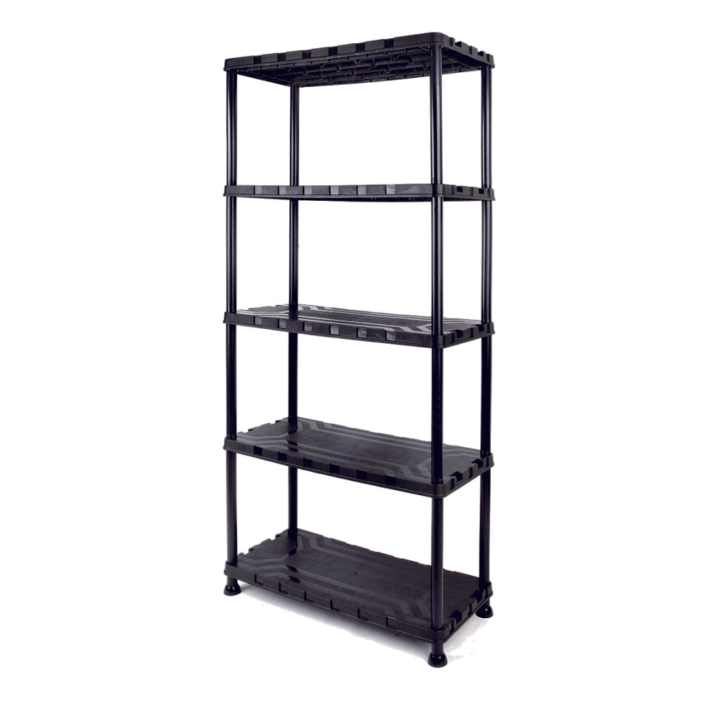 Tactix 5-Tier Plastic Shelf Unit