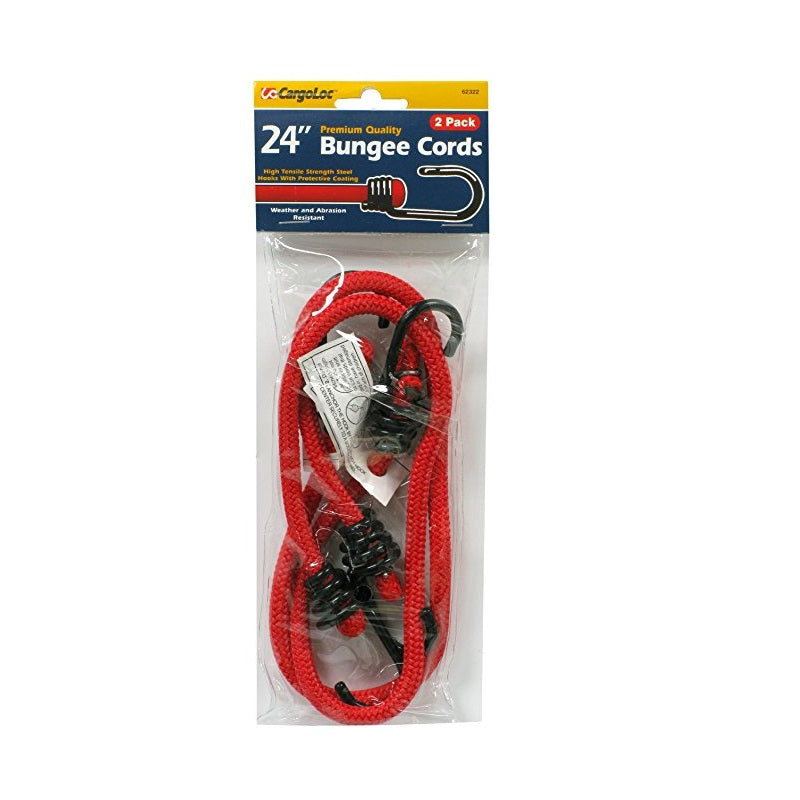 Cargoloc 24in Mini Bungee Cords 2 Pcs Pack