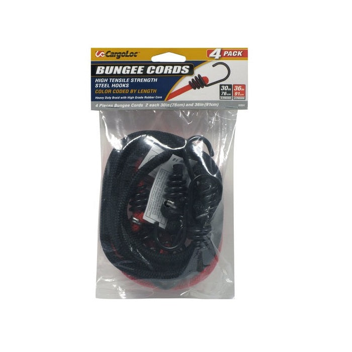 Cargoloc 30/36in Bungee Cords 4 Pcs Pack
