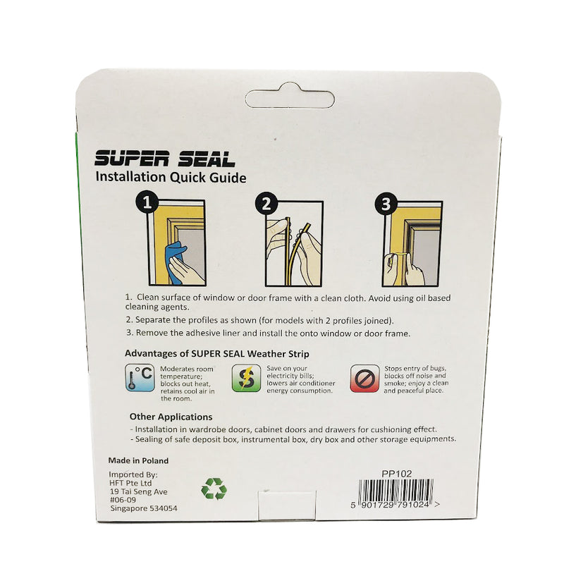 SuperSeal P-Profile Brown 9X5.5mm(2X2.5M)