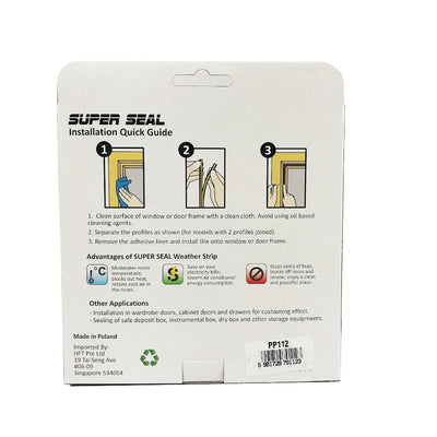 SuperSeal P-Profile Grey 9X5.5mm(2X2.5M)