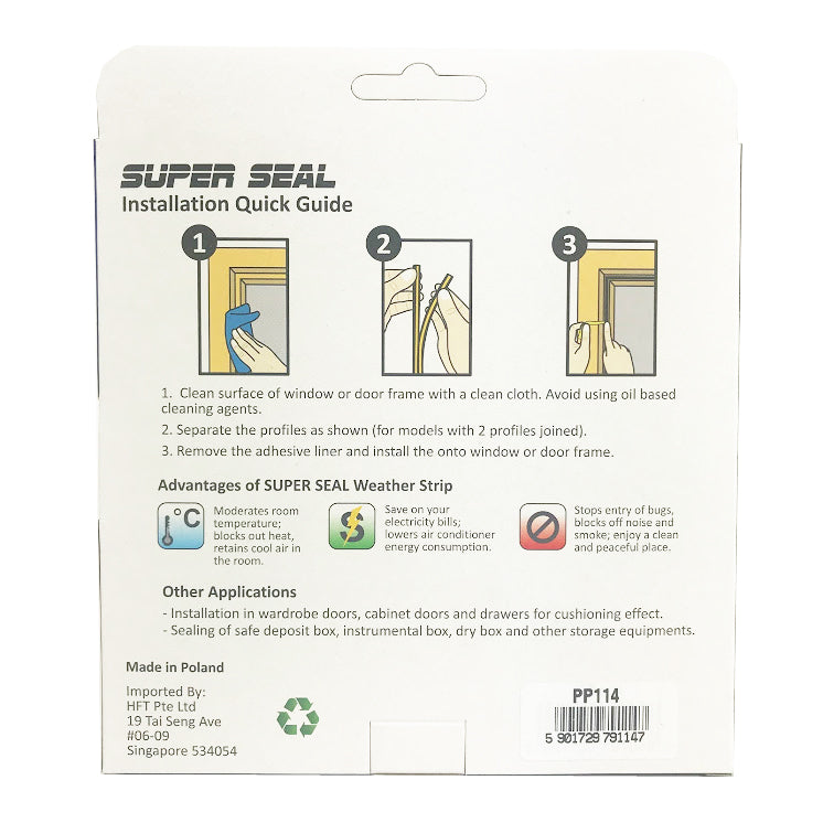 SuperSeal D-Profile Grey 9X7.5mm(2X2.5M)
