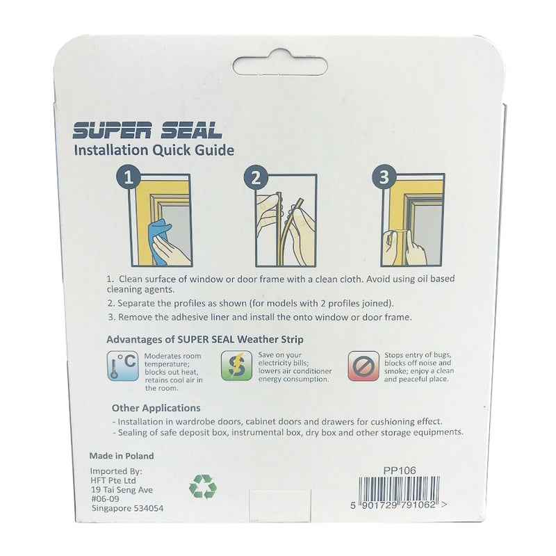 SuperSeal D-Profile Black 12X10mm(1X2.5M)