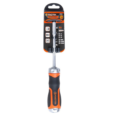 Tactix 7in1 Ratchet Screwdriver With Bits