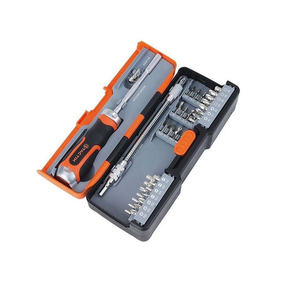 RENT - Tactix Ratchet Driver & Bits Set (43Pcs)