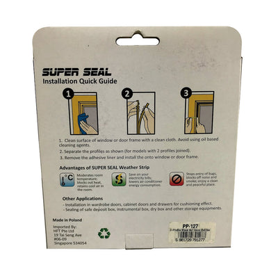 SuperSeal D-Profile Black 9X7.5mm(2X2.5M)