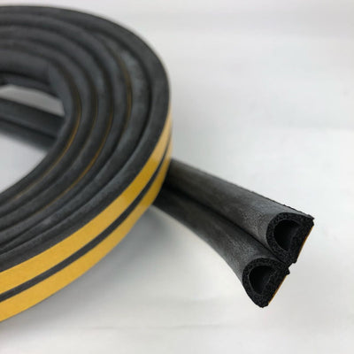 Photo of SuperSeal D-Profile Black 9X7.5mm(2X2.5M)