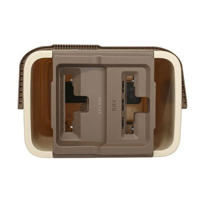 Flymop Nc-1 Self-Wash And Squeeze Bucket Kit Beige