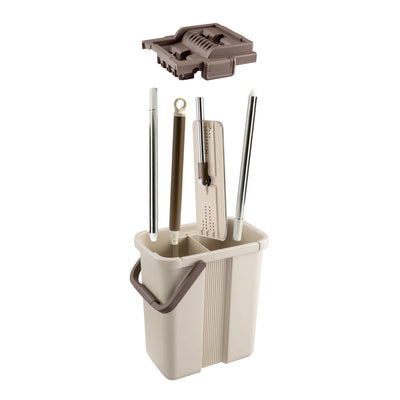 Flymop NC-2 Self-Wash And Squeeze Bucket Kit Beige