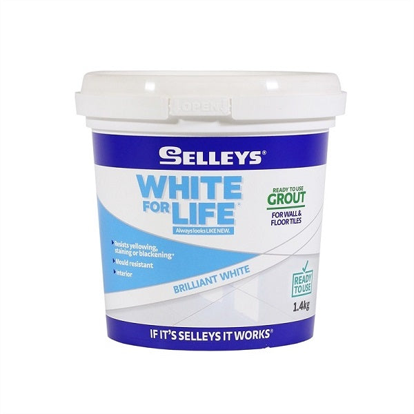 Selleys White For Life Rtu Tile Grout 1.4kg