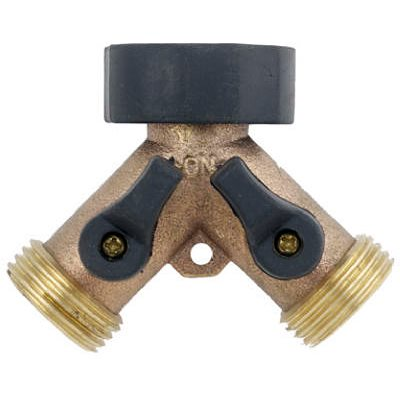 Greenthumb 2-Way Connector Brass