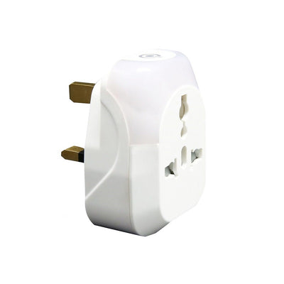 Sensly AL-13 Travel Adaptor with Touch Sensor LED Night Light (Cool White) - (2 PACKS)