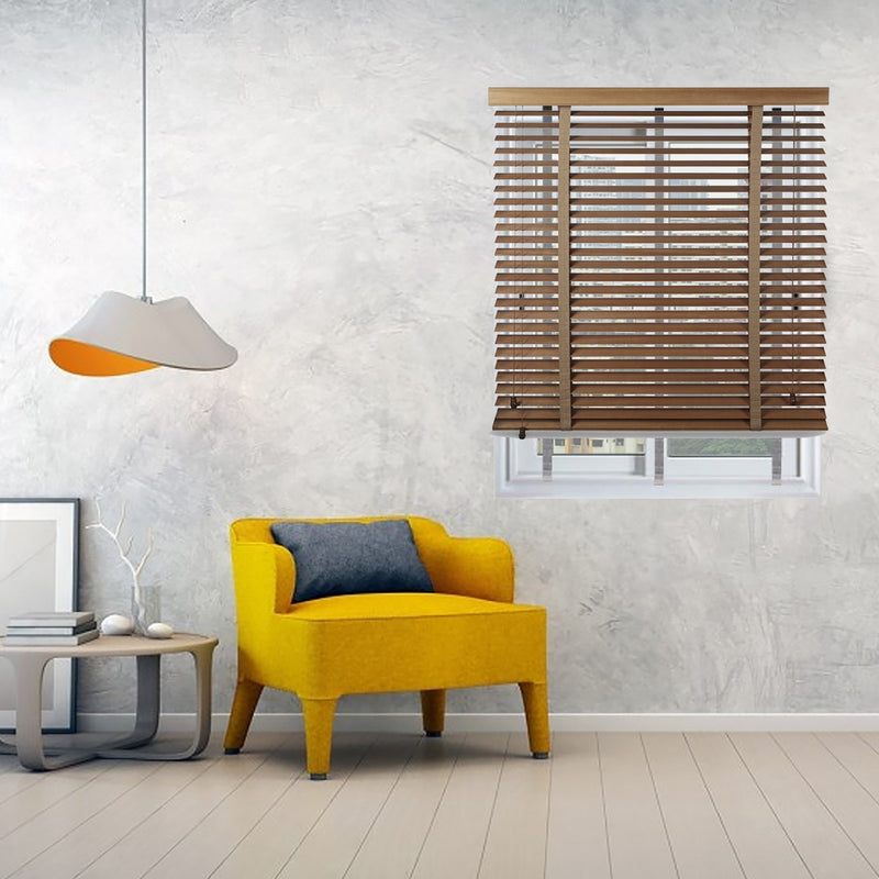 Infinum Walnut Allwood 50Mm With Cloth Tape Wooden Blinds