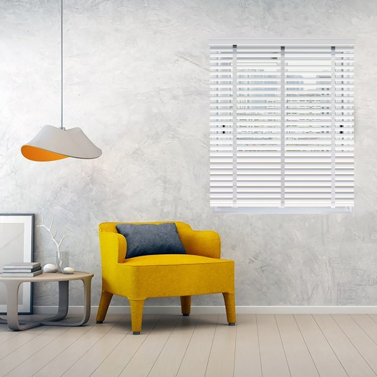 Infinum Snow White Basewood 50Mm With Cloth Tape Wooden Blinds