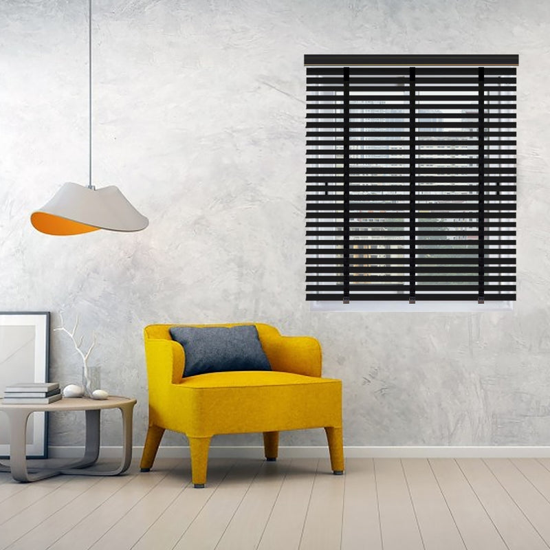 Infinum Mahogany Basewood 50Mm With Cloth Tape Wooden Blinds