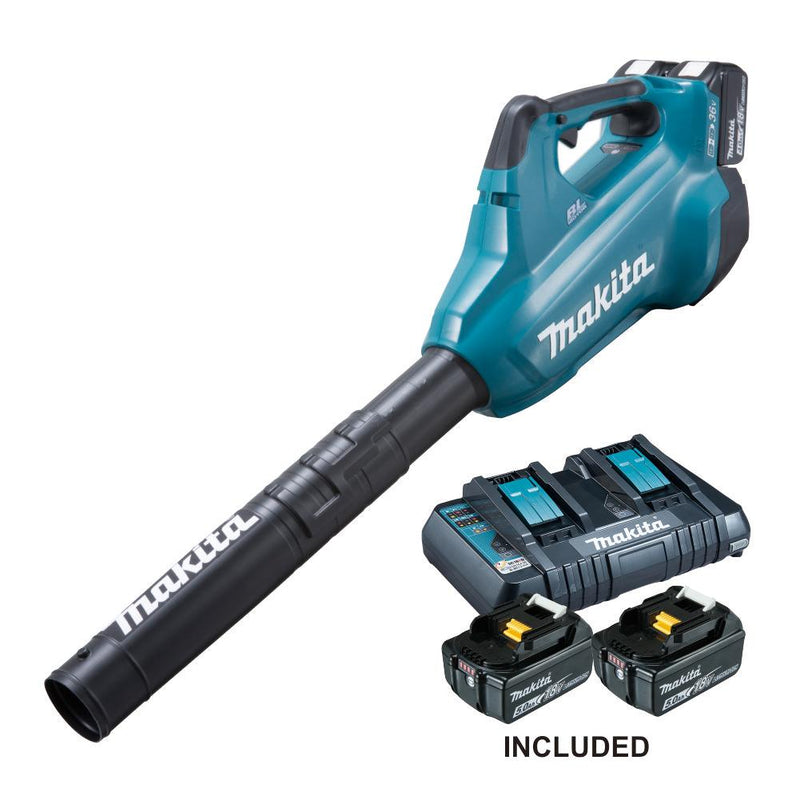 RENT - Makita Cordless Blower (SET 2 x 5Ah) 18V*2 LXT BL Brushless