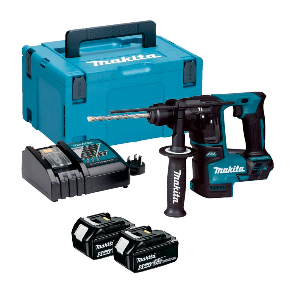 Makita Cordless Rotary Hammer (SET 2x5Ah) 18V LXT BL Brushless