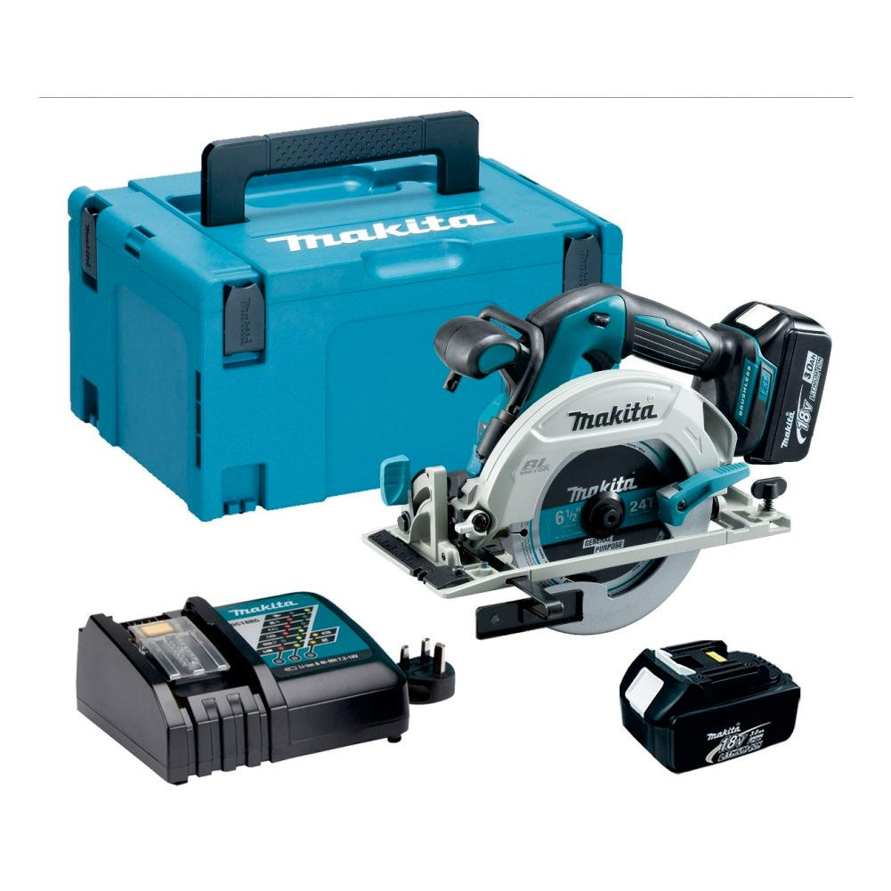RENT - Makita Cordless Circular Saw (SET 2x3Ah) 18V LXT BL Brushless 165mm